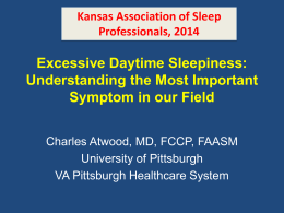Sleepiness - Kansas Association of Sleep Professionals