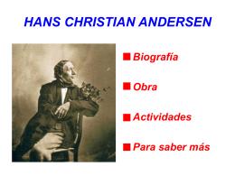 hans christian andersen: biografía