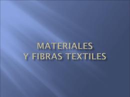 Presentación Fibras Textiles