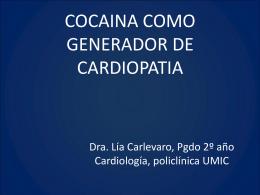 Cocaina y cardiopataía.