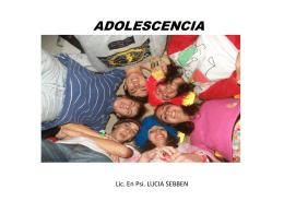 Las adolescentes
