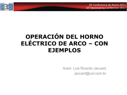 Operación de los hornos eléctricos de arco – Con ejemplos