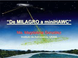 MILAGRO, Observando el universo en TeVs