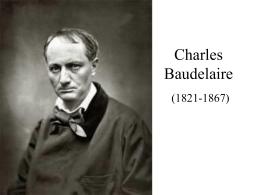 C. Baudelaire y LAS FLORES DEL MAL