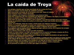 La caída de Troya