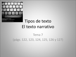 Tipos de texto - lenguayliteraturasoto