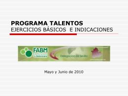 Ejercicios básicos - programa talentos