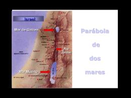 Mar de Galilea Mar Muerto Israel Río Jordán Parábola de dos mares