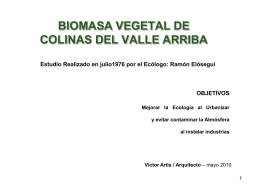 BIOMASA VEGETAL DE COLINAS DEL VALLE ARRIBA