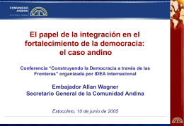 Democracia e integración
