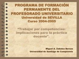 Programa de Formación Permanente del Profesorado Universitario