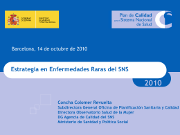 Diapositiva 1 - Ministerio de Sanidad, Servicios Sociales e Igualdad
