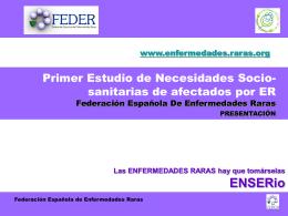 I Estudio Necesidades Sociosanitarias de Afectados por ER