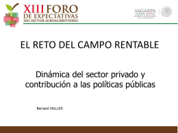 Dinámica del sector privado y contribución a las políticas
