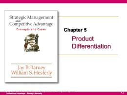 Diferenciación - Estrategia de Negocios I