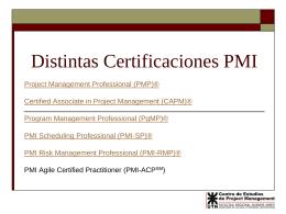 Distintas Certificaciones