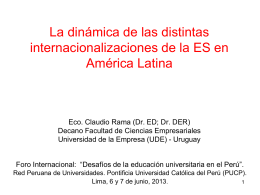 Las distintas internacionalizaciones de la educación superior en