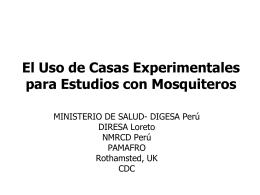 Efecto del uso de mosquiteros tratados con insecticidas
