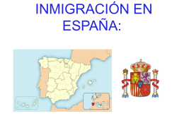 INMIGRACIÓN EN ESPAÑA: