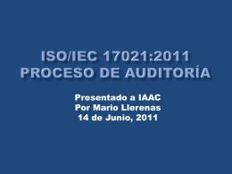 9 Requisitos relativos a los Procesos 9.1.9 Realización de