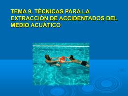 Técnicas para extracción de accidentados del medio acuático