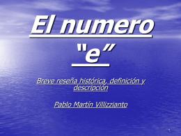 "El numero ""e"" - educativomatramos"