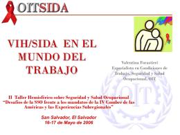 VIH/SIDA en el mundo del trabajo