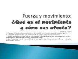 Fuerza y movimiento, 5to