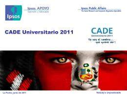 Diapositiva 1 - CADE Universitario 2012