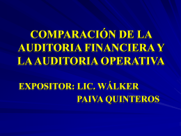 comparación de la auditoria financiera y la auditoria operativa