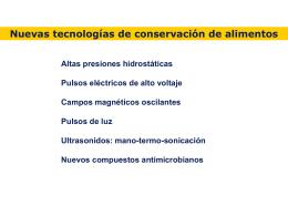 efecto altas presiones - Instituto de Agroquímica y Tecnología de