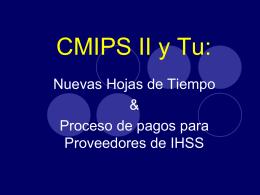 Nueva Hoja de Tiempo de IHSS