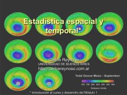 Estadística espacial y temporal