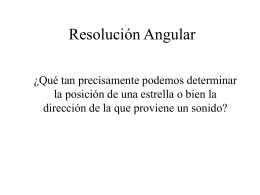 Resolución angular del ojo humano