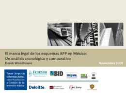 El marco legal de los esquemas APP en México: Un análisis