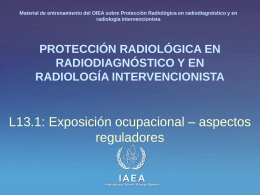 13. Exposición ocupacional - Radiation Protection of Patients