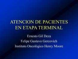 ATENCION DE PACIENTES TERMINALES