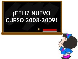 Comienzo de Curso Escolar 2008-2009