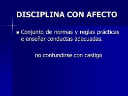 DISCIPLINA CON AFECTO - Conceptos Latinos Para La Familia
