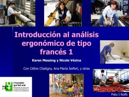Introducción al análisis ergonómico de tipo