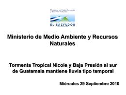 Tormenta Tropical Nicole y Baja Presión al sur de Guatemala