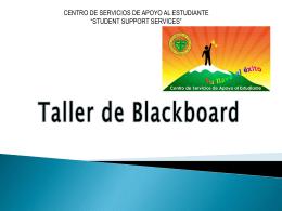 Taller de Blackboard