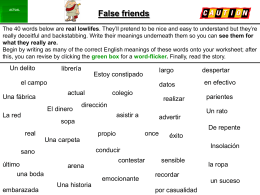 False friends - Lingualicious
