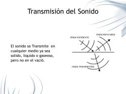 Transmisión del Sonido