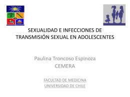 sexualidad e infecciones de transmisión sexual