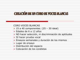 coro.instrumento pedagógico en la educación