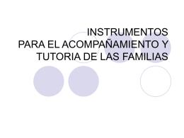 Instrumentos para el acompañamiento familiar