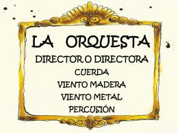La Orquesta - Gobierno de Canarias