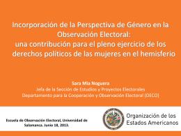 Sara Mia Noguera Jefa de la Sección de Estudios y Proyectos