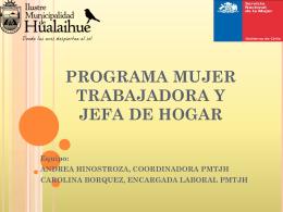 descargue la presentación del programa mujer trabajadora y jefa de